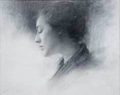 Jeremy Lipking,  In Profile, 2004  Graphite on Paper  16 x 20 inches