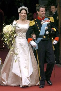 Royal Wedding Pictures: MAY 2004 – Crown Prince Frederik marries Mary Donaldson in Copenhagen Cathedral, Denmark.