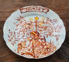 Summer and Winter Two Vintage Plate by millyscollection on Etsy, $60.00