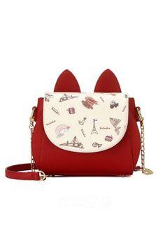 769efc8389 Cute Red Cat Ear Print Shoulder Bag  30-50  handbags  meta-