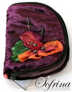 Summer Bouquet Needle Book  Purple Red Orange Pink & Red