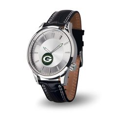 The new NFL Icon Series watch from Sparo features a genuine leather double contrast stitched padded strap with sports buckle. Each of these elegant watches also features a scratch resistant mineral cr
