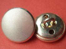 10 METALLKNÖPFE silber 14mm (5926-5) Knöpfe Metall