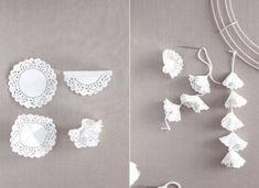 DIY Paper Doily Flowers Ideas Tutorials