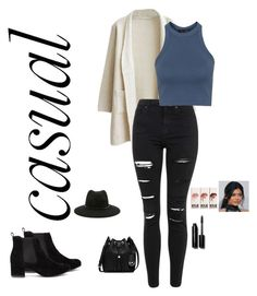"""""""casual"""" by jennifermendoza10 ❤ liked on Polyvore featuring Topshop, Forever 21, MICHAEL Michael Kors and Bobbi Brown Cosmetics"""