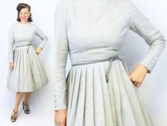 1960s Dress / 60s Dress / Day Dress / 50s by AuntieEstablishment