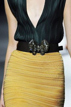 LANVIN SS 2011. #Yellow #Black