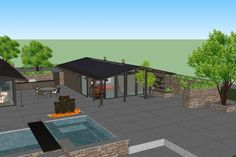 House Plan 544-4 Build one on other side of deck for Mary, but one of them needs a kitchen.