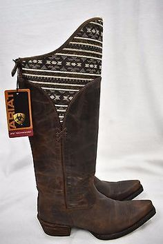 6f9b30968 NWT ARIAT ATS Women s Caldera Snip Toe Boot Brown Leather Size 8.5 B New   239