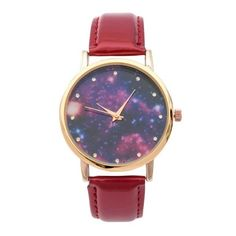 Vintage Rhinestone Starry Sky Retro Watch (32 NOK) ❤ liked on Polyvore featuring jewelry, watches, vintage wristwatches, rhinestone watches, retro watches, vintage jewellery and rhinestone jewelry