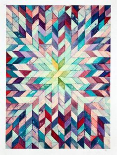 Items similar to Lone Star (cool) Original Painting Gouache on Paper on Etsy Textures Patterns, Print Patterns, Graphic Design Illustration, Illustration Art, Textile Prints, Art Prints, Color Me Mine, Sculpture, Background Patterns