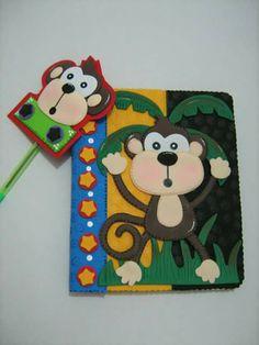 Cuaderno decorado Bible Cases, Foam Crafts, Paper Piecing, Cover Design, Safari, Scrap, Creative, Kids, Album Covers