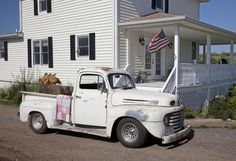1948-1950 Ford F1 truck. Husband has this sitting out in the field, but it looks worse than this one.