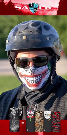 Protect Your Hair and Face from Sun, Cold, Dust, & Allergens. Made of UPF 40 Microfiber. All Face Shields come with a Lifetime Warranty! Join the SA Team Today! Do you ride Custom Motorcycle Helmets, Trike Motorcycle, Motorcycle Outfit, Custom Sport Bikes, Motorised Bike, Biker Gear, Harley Bikes, Cool Things To Buy, Stuff To Buy