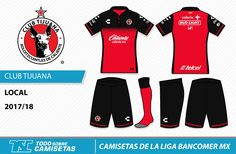 Camisetas de la Liga MX 2017-18 - Xolos Tijuana