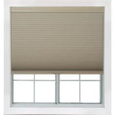 Redi Shade 59.25-In W X 72-In L Khaki Blackout Cellular Shade Z14c5921