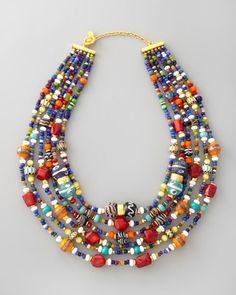 jose maria barrera NECKLACES   Jose & Maria Barrera - Multicolor Beaded Necklace   accessories