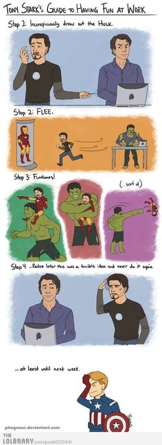 Tony Stark's guide to fun at work