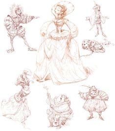 """Duchess Sketches"" by Peter de Sève https://www.facebook.com/CharacterDesignReferences"