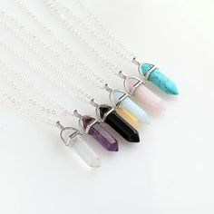 Hexagonal Natural Crystal Pendant Jewelry Necklaces