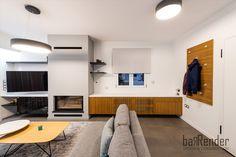 Living room - TV corner - Fireplace - Buffet Living Room Tv, Buffet, Entryway, Corner, Construction, Projects, Furniture, Design, Home Decor