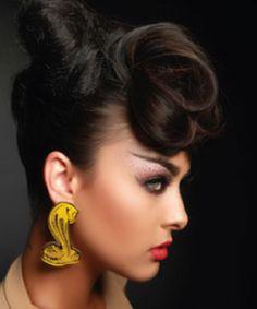Snake Bite Earrings in Gold