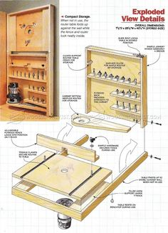 #2060 Fold Down Router Table Plans - Router