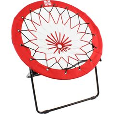 College Covers, Nebraska Cornhuskers Bunjo Chair.  The College Covers NCAA Licensed Bunjo Chair is the perfect addition to any man cave, dorm room or patio. The officially licensed logo is screen printed onto the vibrant colored 600D polyester rim and the steel tube structure holds up to 225 pounds. The chair folds down flat for easy moving wherever you may be going.