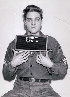 Elvis Presley photo for the Army  -  ...and this isn't even a really good one!
