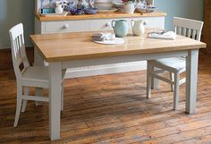 kitchen table - paint the legs, stain the top?