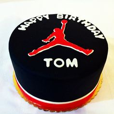 The Chicago Bulls icon is represented in this silhouette known as the Michael Jordan Jumpman, which was made out of fondant.   unique Come check these out!  http://trkur.com/trk?o=6849=63025