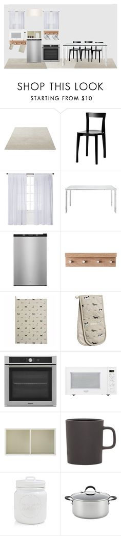 """""""Kitchen"""" by poison-iivy ❤ liked on Polyvore featuring interior, interiors, interior design, home, home decor, interior decorating, Moustache, Nate Berkus, Frigidaire and Home Decorators Collection"""