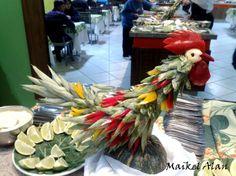 Esculturas em Frutas e legumes por Maikel Alan
