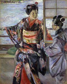 Desde el otro lado del cuadro: Maiko - Kuroda Seiki