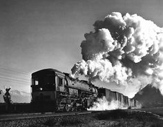 Westbound Southern Pacific freight train led by cab-forward steam locomotive no. 4206, 1952