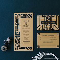 Great Gatsby Wedding Theme Old Hollywood Black Gold Wedding