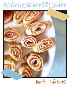 'was eigenes': Pfannkuchenröllchen mit Lachs...