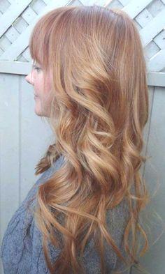 Light Strawberry Blonde Long Hair
