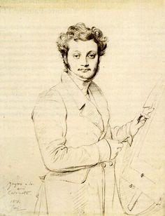 Jean Auguste Dominique Ingres, Portrait de Luigi Calamatta 1828