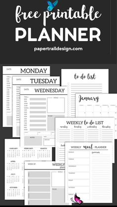 Monthly Planner Template {Printable Planner Pages} Monthly Planner Template {Printable Planner Pages}. Free printable day planner pages DIY. To do list, menu plan, weekly meal plan, calendar to get organized. #papertraildesign #planners #plannerprintables #plannerprintable #monthlyplanner #freeprintable #freeprintableplanner #todo #dialyplanner #weeklyplanner<br> Monthly Planner Template {Printable Planner Pages}. Free printable day planner pages DIY. To do list, menu plan, weekly meal plan…