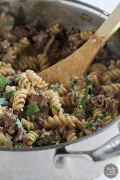 Try this One Pot Ground Beef Stroganoff for an easy weeknight dinner.