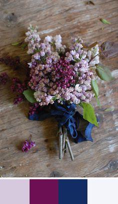 I love this color palette!  Lovely Lavender: 5 Foggy Lavender Color Palettes for your Wedding Day