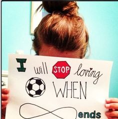 stop loving soccer when Infinity ends.I love soccer so much.- will stop loving soccer when Infinity ends.I love soccer so much.- Soccer is and always will be my first love ⚽ Along with a little summer and rain to play in. Soccer Memes, Soccer Quotes, Soccer Tips, Sport Quotes, Football Humor, Football Quotes, Cr7 Quotes, Girl Football, Girls Soccer