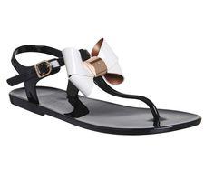 ff956f3820c0 Buy Black Cream Ted Baker Verona Bow Sandal from OFFICE.co.uk. Cream