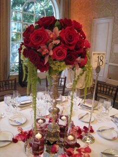 red wedding floral  | Flowers & centerpieces and floral decorations for weddings, events ...