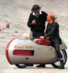 Don Paco Bulto tuning the Bultaco Metralla.