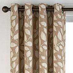 Jcpenney   Sonoma Leaf Grommet Top Curtain Panel. Sullivan Khaki Living Room.  Grey