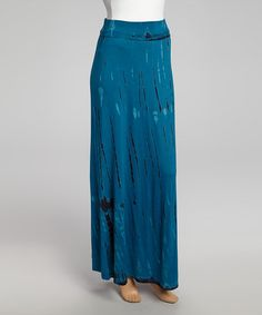 Another great find on #zulily! Blue Sublimation Maxi Skirt by Chris & Carol #zulilyfinds