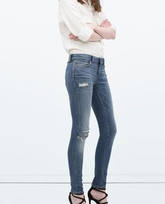 ZARA - WOMAN - EMBROIDERED DENIM JEANS