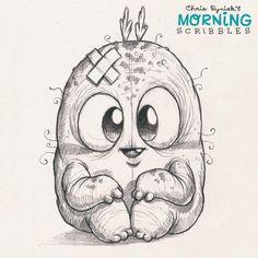 Artist Chris Ryniak makes the coolest and cutest monster art Cute Monsters Drawings, Cartoon Monsters, Little Monsters, Cute Drawings, Animal Drawings, Monster Sketch, Doodle Monster, Monster Drawing, Monster Art